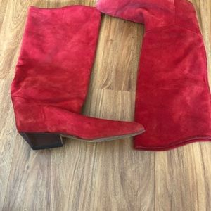 Unisa red Suede boots size 8